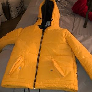 Mustard Yellow Puffer Coat